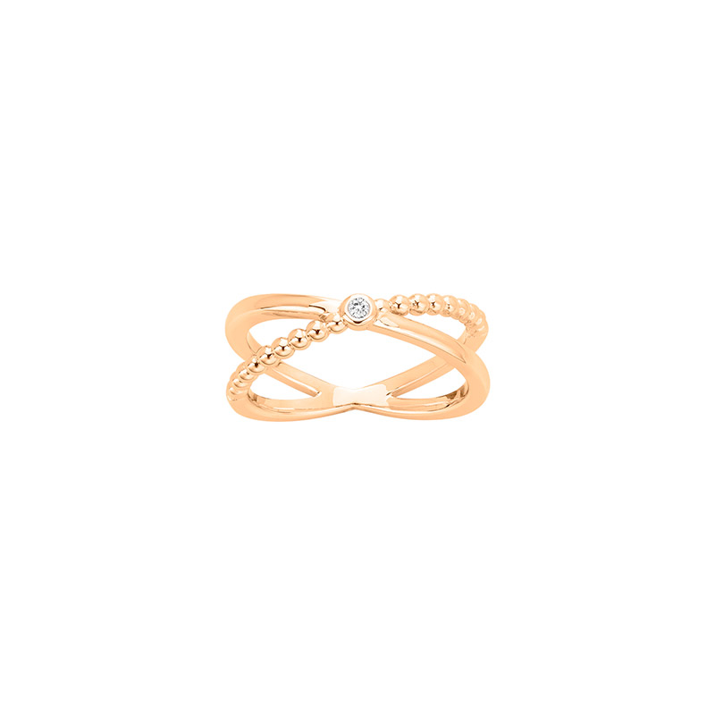 Bague ETATSDAME en 18 carat gold plated